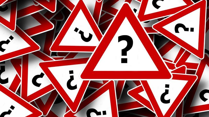 Question marks signs